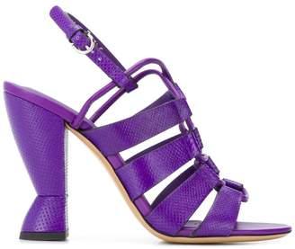 Salvatore Ferragamo sculptural heel sandals