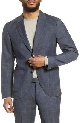 Tiger of Sweden Trim Fit Windowpane Wool Sport Coat