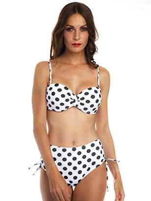 COANA Palka Dot Bikini Swimsuit for Women Two Pieces Flattering Swimwear Cute Bathing Suit XL