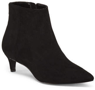 Kitten Heel Pointy Toe Booties