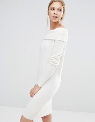 Vila Bardot Sweater Dress $38 thestylecure.com