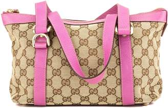 Gucci Pink Leather GG Monogram Small Abbey D-Ring Tote (3945012)
