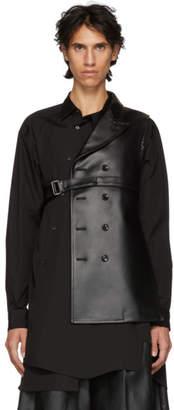 Comme des Garcons Black Asymmetric Blazer Vest