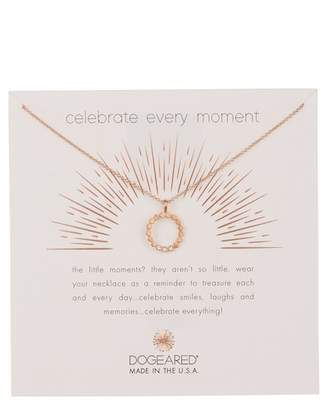 Dogeared Celebrate Every Moment Dotted Halo Pendant Necklace