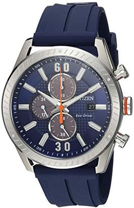 Citizen Men's 'Drive' Quartz Stainless Steel and Polyurethane Casual Watch