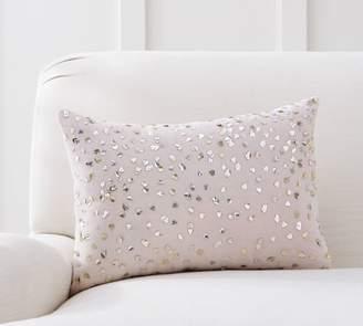 Pottery Barn Monique Lhuillier Velvet Embellished Lumbar Pillow