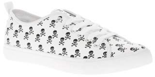 GROUND UP Men's Skull Print Lace Up Oxford Sneaker
