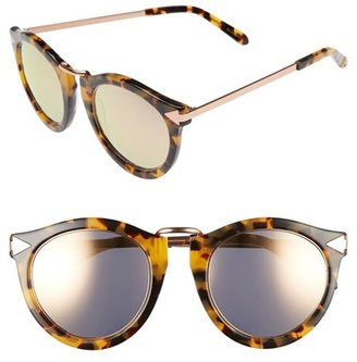 Women's Karen Walker 'Harvest - Superstars' 51Mm Retro Sunglasses - Crazy Tort With Rose Gold $250 thestylecure.com