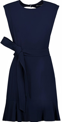 Sandro Belted cutout crepe mini dress $410 thestylecure.com