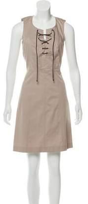 Derek Lam Lace-Up Sleeveless Dress