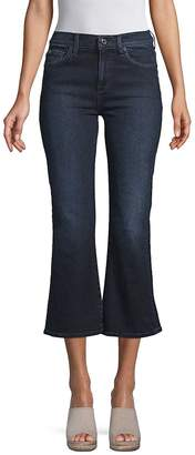 7 For All Mankind Women's Cropped Flared Pants