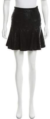 Barneys New York Barney's New York Leopard Print Mini Skirt
