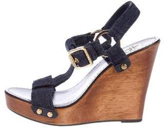 Tory Burch Denim Wedge Sandals