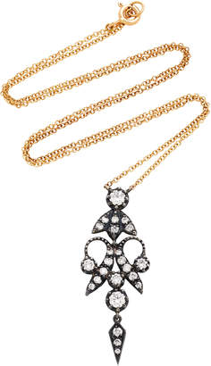 Montse Esteve 18K Gold Oxidized Silver And Diamond Necklace
