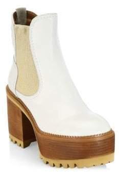 See by Chloe Erika Platform Leather Booties