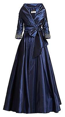 Catherine Regehr Women's High Collar Embellished Cuff Ball Gown