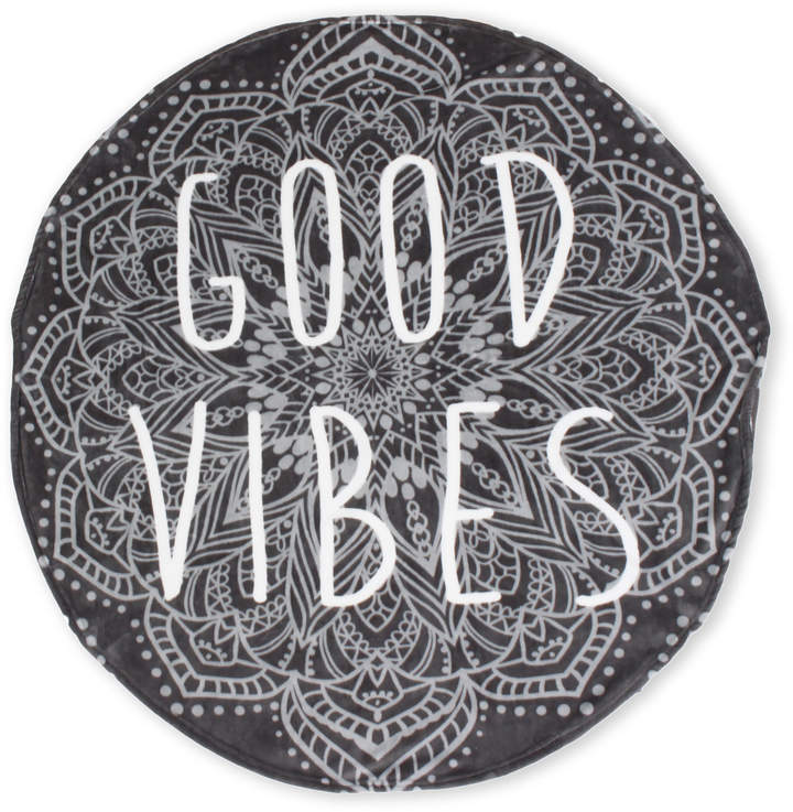 Thro By Marlo Lorenz Good Vibes Round Meditation Throw