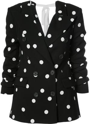 Monse Polka-Dot Boxy Blazer