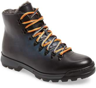 Magnanni Oberon Genuine Shearling Lace-Up Hiking Boot