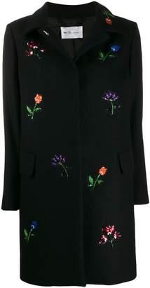 Blumarine Be Flower Embroidered Coat