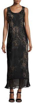 Lafayette 148 New York Palmer Sleeveless Paisley-Print Silk Maxi Dress, Multi $748 thestylecure.com