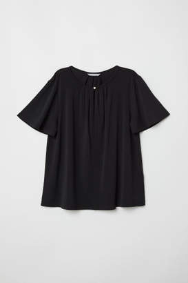 H&M Creped Jersey Top - Black