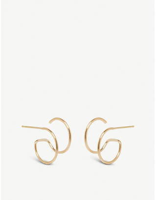 Chicco The Alkemistry Zoë Illusion 14ct yellow-gold double hoop earrings
