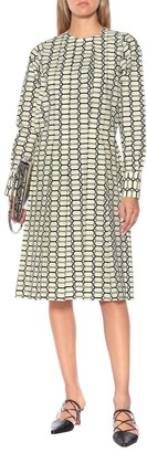 Plan C Printed cotton midi dress