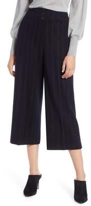 Halogen Stripe Wide Leg Crop Suit Pants