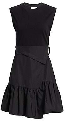 3.1 Phillip Lim Women's Wrap-Effect Belted Tee Dress - Size 0