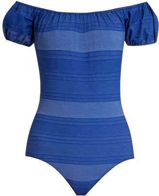 Lisa Marie Fernandez Leandra striped swimsuit