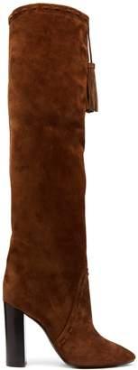 Saint Laurent Meurice tassel-tie suede boots
