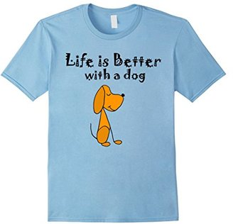 Life is better with a Dog - tshirt $17.99 thestylecure.com