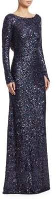 Naeem Khan Irredescent Sequined Gown