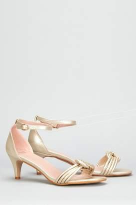 8b04d93ec7c Next Womens Evans Metallic Extra Wide Padded Two Part Kitten Heel Sandal