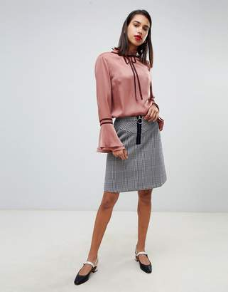 Max & Co. 60's Mini Skirt in Check