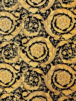 Versace Barocco Flowers Printed Wallpaper