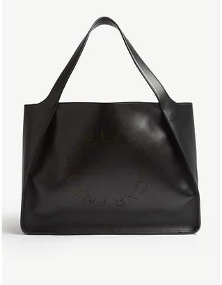 Stella McCartney Black Logo Alter Nappa Faux Leather Tote Bag