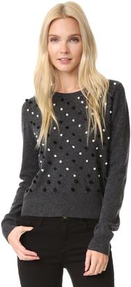 Diane von Furstenberg Revaya Pom Pom Sweater $298 thestylecure.com