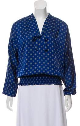 MICHAEL Michael Kors Printed V-Neck Blouse blue Printed V-Neck Blouse