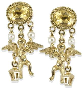 Vintouch Italy - Cherubini Citrine Earrings