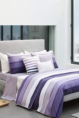 Lacoste Twin Clery Duvet Set - Purple