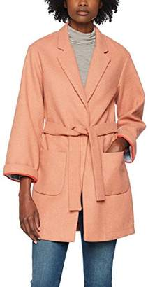 Scotch & Soda Maison Women's Bonded Wool Blend Coat Belt Kimono Sleeves Jacket, (Sandy Pink Melange 2010)