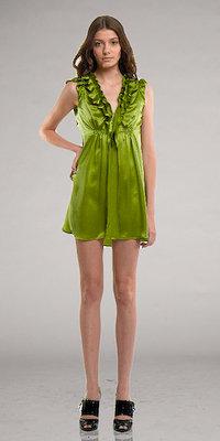 Grass Green Ruffle Cocktail Dresses by Kara Janx