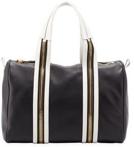Tom Ford Amber Pebbled Leather Boston Bag