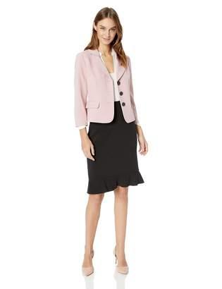 Le Suit LeSuit Women's 3 Button Notched Petal Crepe Skirt Suit