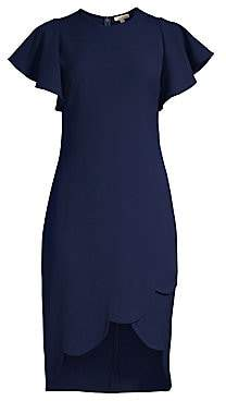 Shoshanna Women's Dade Circular Cap Sleeve Scalloped Shift Dress - Size 0