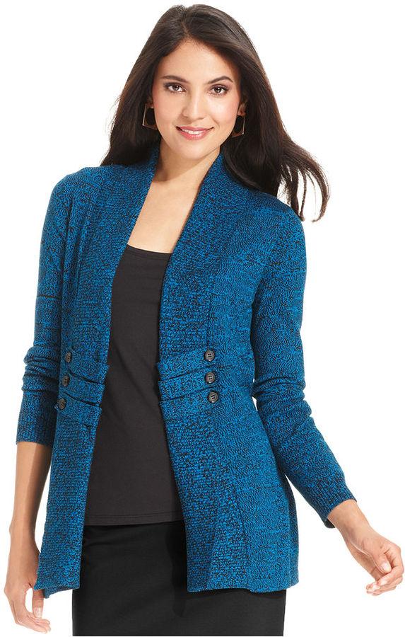 Amy Byer Sweater, Long-Sleeve Marled Cardigan