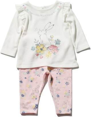 M&Co Guess how much I love you top and leggings set (Newborn - 3 yrs)