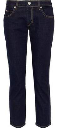 Amo Cropped Bow-Detailed Mid-Rise Slim-Leg Jeans